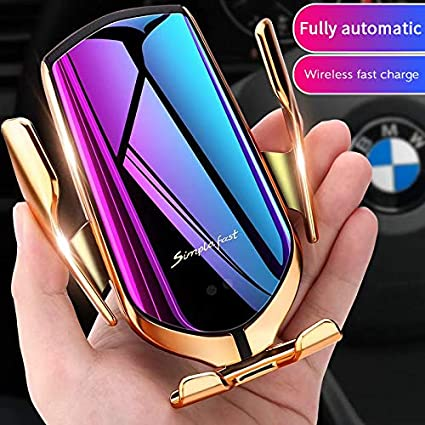 Hight Quality Wireless Car Charger Infrared Smart Sensor, Top Wireless Automatic Sensor Car Phone Holder and Charger Smart Sensor Wireless Car Charger Mount.