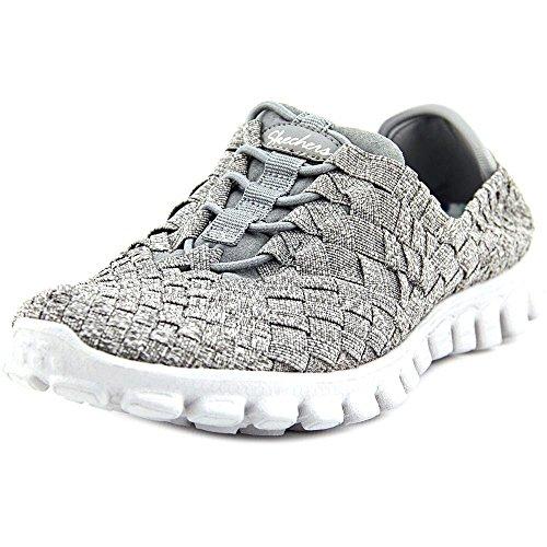 Skechers EZ Flex 2 Pedestal Womens Slip On Sneakers Gray 6