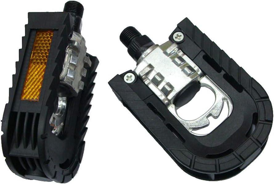 VOANZO Pedales de Bicicleta, Pedal de pie Plegable de Aluminio, Accesorios para Bicicletas 100x71x30mm