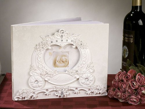 Fairytale Theme Guest Book C418 Quantity of 1 by Cassiani - Guest Fairy Theme Tale Book