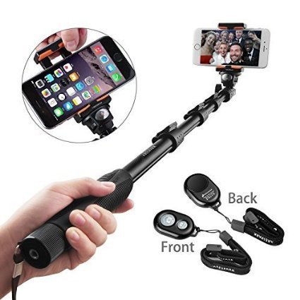 Selfie Stick, Arespark Self-portrait Monopod Wireless Bluetooth Selfie Stick With Adjustable Phone...