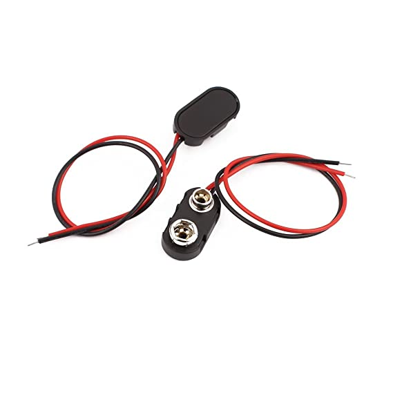 Amazon.com: eDealMax 10Pcs 2-Wire Shell plástico de tipo I 9V batería DE 9 voltios Clip Conector DE 15 cm Longitud: Electronics