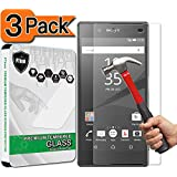 [3-Pack] Xperia Z5 Screen Protector, PThink® [Tempered Glass][9H Hardness][Anti-Scratch][Fingerprint Resistant][Easy-Install] Screen Protector for Sony Xperia Z5
