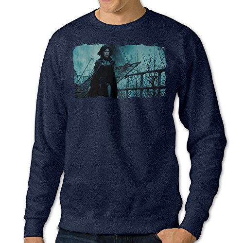 [JXMD Men's Underworld Blood Wars Crewneck Hoodies Navy Size S] (Miley Cyrus Disney Costume)
