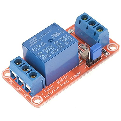 GEREE 1 Channel Optocoupler High/Low Level Relay Module 5V DC for ARM DSP (1 Channel Relay)