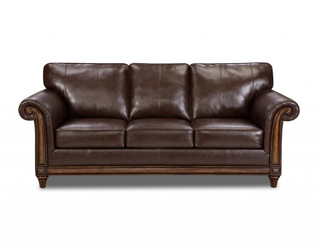 Amazon.com: Simmons Upholstery 8001 04Q San Diego Coffee Bonded Leather  Queen Hide A Bed: Kitchen U0026 Dining