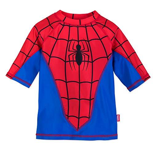Marvel Spider-Man Rash Guard for Kids Size 5-6 Blue (Swimsuit Spiderman)