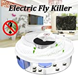 Electric Fly Trap Device with Trapping Food with White USB Cable, Pest Control Fly Bug Insect Killer for Home Restaurant Hotel Gessppo