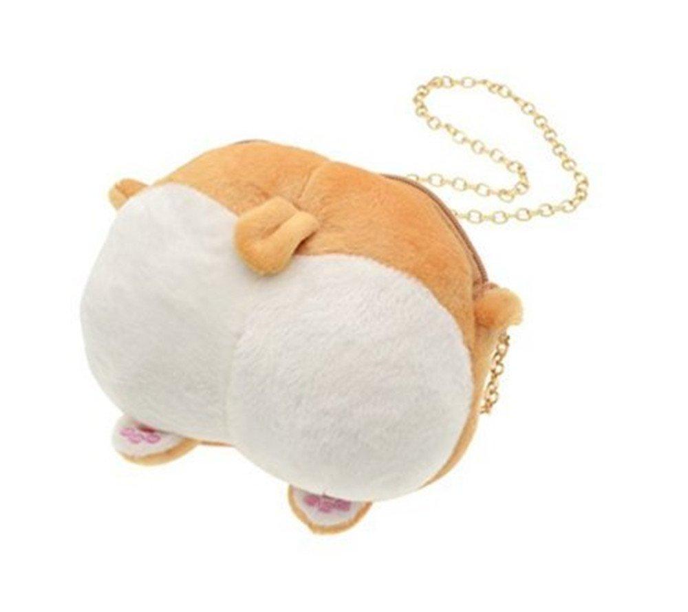 QINGYA Functional Pocket Crossbody Bag,Cute Corgi Butt Chain Bags Adorable Pet Butt Animal Single Shoulder Purse for Girls/Women