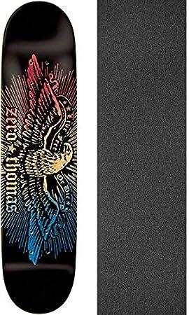 Zero Thomas Live Free Skate Deck-8.5 BLK/RED/NAT/BLU w/Mob Grip