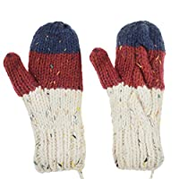 Ylucky Winter Mittens for Kids Fleece Mittens with String Boys Warm Ski Snow Mittens Gloves Girls Magic Mittens Thermal Mittens Toddler Soft Stretchy Knit Mittens Thick Full Finger Hand Warmer