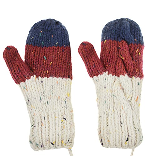 Kids Mitten Fleece - Ylucky Winter Mittens for Kids Fleece Mittens with String Boys Warm Ski Snow Mittens Gloves Girls Magic Mittens Thermal Mittens Toddler Soft Stretchy Knit Mittens Thick Full Finger Hand Warmer