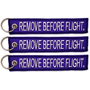 Insert Before Flight Keychain Purple//White by Rotary13B1 IBF1442