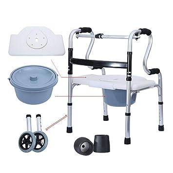 Doccia Con Sedile Pieghevole.Sedia Da Toilette Per Doccia Con Vaso Per Anziani Deambulatore