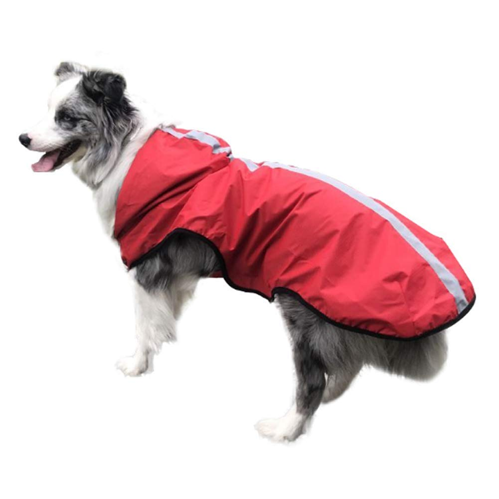 Red S Red S Waterproof Dog Raincoat Pet Jacket With Reflective Strip,Red,S