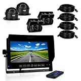 "Pyle PLCMTRDVR46 Truck Bus HD 4 Camera DVR Video Recording System, Dash Cam 7"" Display Monitor"