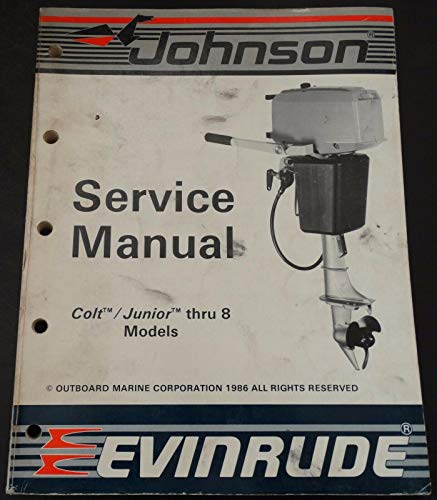 1987 OMC Evinrude Johnson Outboard Colt/Junior Thru 8 Hp Service -