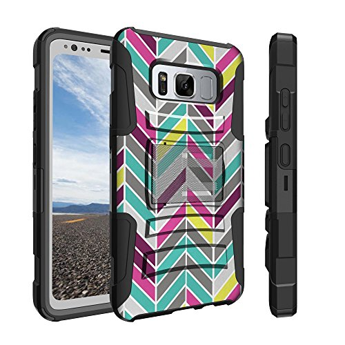 Samsung Galaxy S8 Active Case, S8 Active Holster Case by Untouchble [Heavy Duty Clip] Dual Layer Rugged Hybrid Armor [Kickstand] [Swivel Belt Holster Clip]