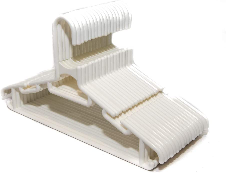 Highliving /® Lot de 36 cintres antid/érapants en plastique blanc