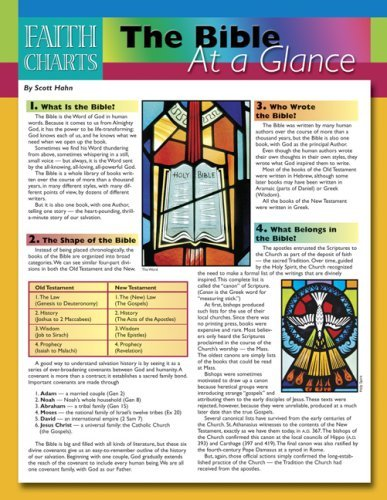 Faith Charts: The Bible at a Glance by Scott Hahn (10-Jul-2008) Pamphlet