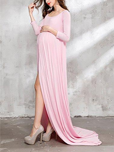 Rosa Oneforus della modo forcella foto spaccata della Vestiti di donna di sexy della fotografia incinta f6nfr1p4wq