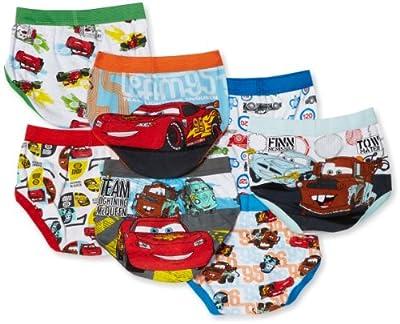 Disney Little Boys' Cars 7-Pack Brief