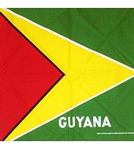 Una bandera de Guyana, Guyana de la bandera Bandana tamaño: 22x 22