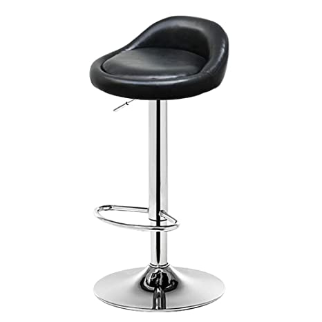 Metal Leg Bar Stools Counter Height Adjustable Bar Chairs with Back Barstools Round Swivel Chair for Living Room Modern Wood Seat