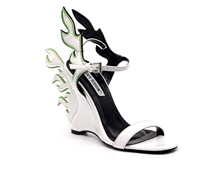 80fdd04834a Michelle Parker Shoes Cape Robbin Hell Flame White Flame Accent Wedge Heel  Sandal (6)