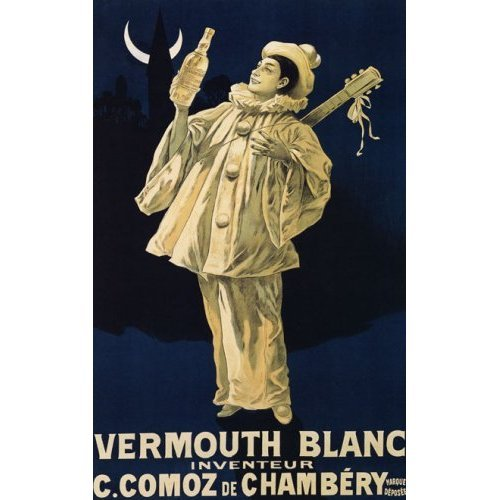 (VERMOUTH BLANC C. COMOZ DE CHAMBERY SMALL VINTAGE POSTER CANVAS)