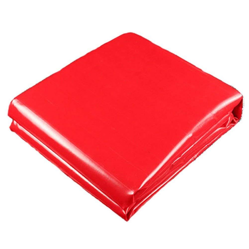 BÂche épaissir Multifonction en Plein Air Ombre Imperméable à l'eau De Prougeection Solaire Toile De Linoléum Résistant à l'usure Plusieurs Tailles Peuvent Être Personnalisées GMING Rouge 3x6M