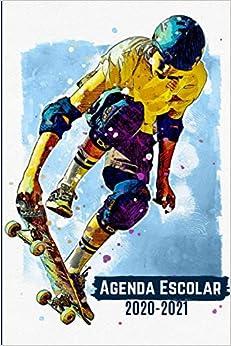 Agenda Escolar 2020 2021 Skate: primaria Colegio secundaria estudiante semana vista | calendario planificador semanal formal A5 | de septiembre de 2020 a septiembre de 2021,Agenda Escolar