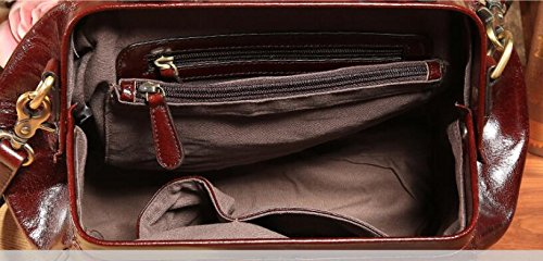 DJB/Wachs-Leder Handtasche Damen europäischen Fashion tragbar Single shoulder-slung Vintage Leder Doctor Bag Leder braun mGaay4E4aL