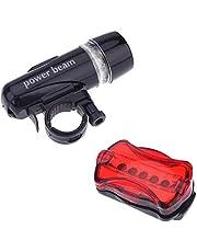 LED Frontscheinwerfer + Rücklicht + Bremslicht Fahrradlampe Set,Nourich Scheinwerfer Frontleuchte Fahrradleuchte, Fahrradlicht,Aufladbare Fahrradlichter Lamp Fahrradbeleuchtung