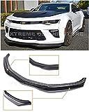 Extreme Online Store for 2016-2018 Chevrolet Camaro SS V8   EOS T6 Style ABS Plastic Primer Black Add On Front Bumper Lower Lip Splitter