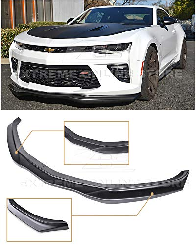 Extreme Online Store for 2016-2018 Chevrolet Camaro SS V8 | EOS T6 Style ABS Plastic Primer Black Add On Front Bumper Lower Lip Splitter