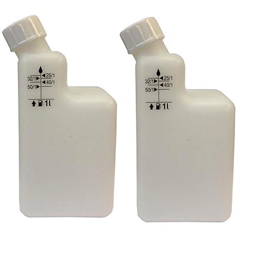 2 Botellas), 1 L 2 Tiempos Bote de Mezcla Pre Mix 40/1, 25/1 ...
