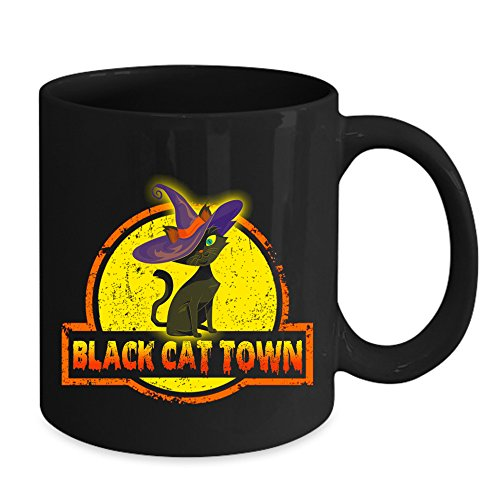 Blact Cat Town Halloween Mug - Happy Halloween