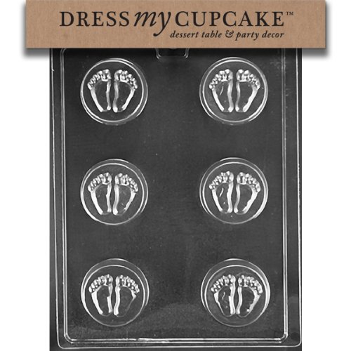 Dress My Cupcake Chocolate Candy Mold, Baby Feet Cookie Mold, Baby (Baby Feet Cookie)