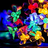niceEshop(TM) Cherry Flower Solar String Lights, 23ft 50 LED Waterproof Outdoor Blossom Lighting Decoration for Indoor/Outdoor, Patio, Lawn, Garden, Christmas, and Holiday Festivals (Multicolor)