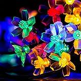 Patio Lawn Garden Best Deals - niceEshop(TM) Cherry Flower Solar String Lights, 23ft 50 LED Waterproof Outdoor Blossom Lighting Decoration for Indoor/Outdoor, Patio, Lawn, Garden, Christmas, and Holiday Festivals (Multicolor)