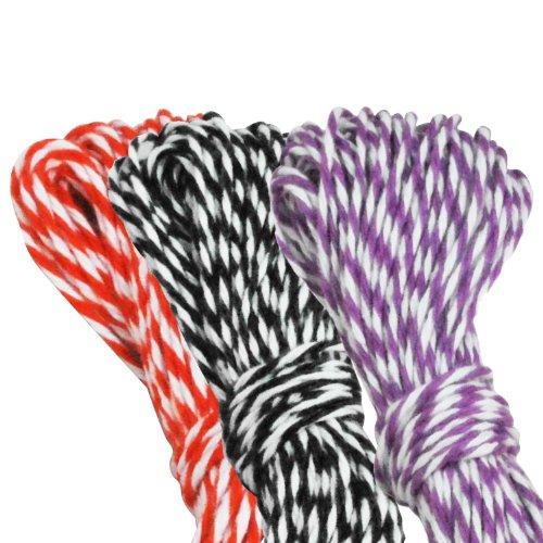 Dress My Cupcake Baker's Twine Roll, Halloween Collection, 15-Yard, Orange/Black/Purple, Set of 3 -