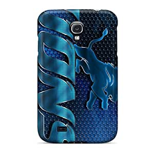 IanJoeyPatricia Samsung Galaxy S4 Bumper Hard Cell-phone Case Allow Personal Design Lifelike Detroit Lions Image [ZJM15282evmL]