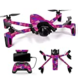 MightySkins Skin for Parrot Anafi Drone – Pink Kaleidoscope | Protective, Durable, and Unique Vinyl Decal wrap Cover | Easy to Apply, Remove, and Change Styles | Made in The USA