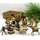 Global Crafts Nativity Set Handmade in Kenya From Banana Fiber
