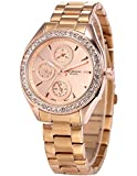 Taylor Cole Ladies' TC009 Date Day 24hour Display Stainless Steel Band Quartz Watch