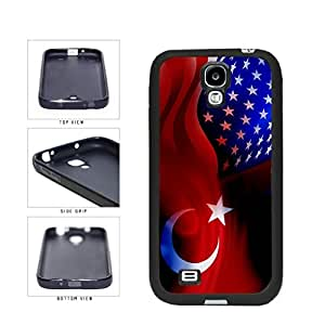 Turkey and USA Mixed Flag TPU RUBBER SILICONE Phone Case Back Cover Samsung Galaxy S4 I9500