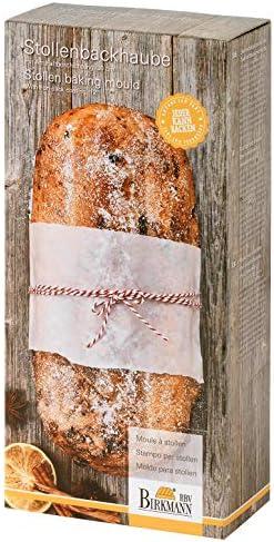 Birkmann 221901 Stollenbackhaube Christstollenform 30 cm Easy Baking im Geschenk