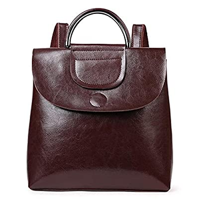 high-quality Women Bags Cowhide Cotton Backpack Zipper for Casual All Season Wine Brown Coffee Black