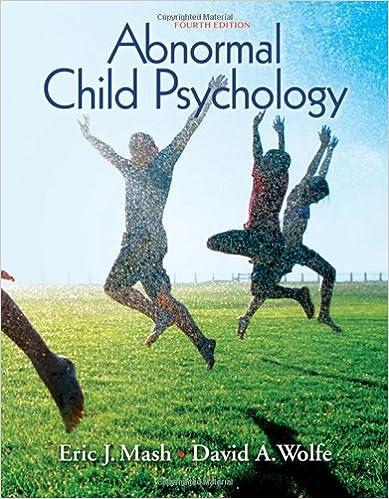 Abnormal Child Psychology 5th Edition Pdf
